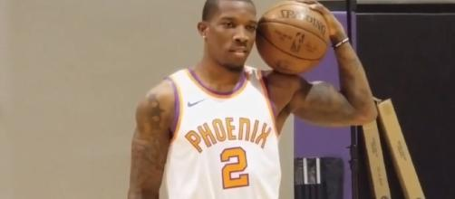 Eric Bledsoe is on the trading block and the Nuggets emerge as a top suitor – [image credit: Suns media/Youtube]