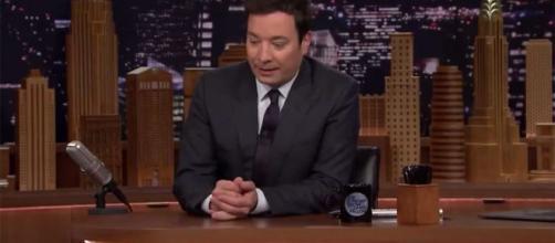 Jimmy Fallon pendant le Tonight Show de lundi soir