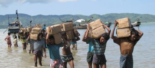 Some camps for the Rohingya, like this one near Sittwe, are only accessible by sea [Image: Mathias Eick via Flickr]