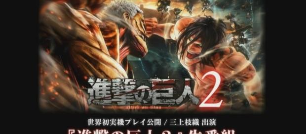 """Attack on Titan 2"" game will be release on March 2018. Image:Koei Tecmo Channel/YouTube"