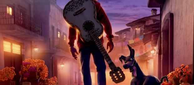 Cartel de Coco, película de Pixar.
