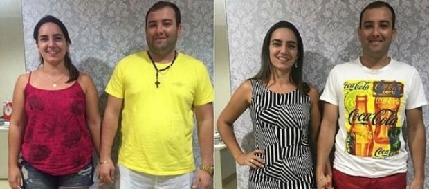Casal perdeu juntos 42kg em 3 meses