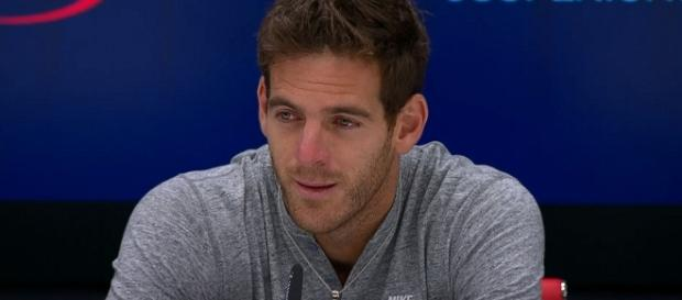 Del Potro during a press conference at the 2017 US Open. [Image Credit: US Open Tennis Championships/YouTube]