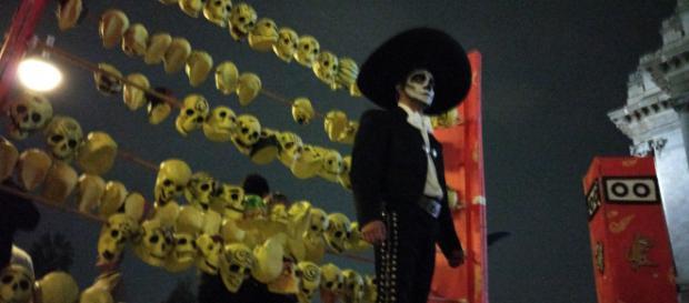 Día de Muertos en el centro de la ciudad de México.