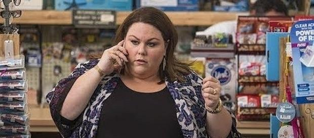 """Kate, played by Chrissy Metz, is pregnant on """"This Is Us."""" [Image: Lime TV Shows/YouTube screenshot]"""