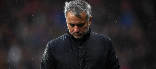 Manchester United manager, Jose Mourinho after the 2-1 defeat at Huddersfield Town last weekend [Image credit: Mba Patrick/Flickr]