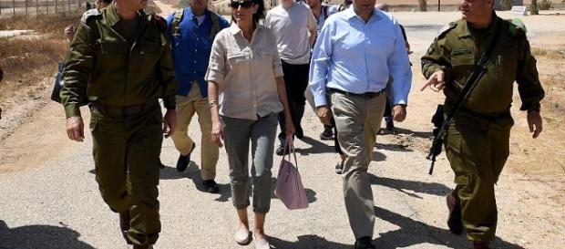 UN Ambassador Nikki Haley during a past visit to Israel in June this year.[image credit;US Embassy Tel Aviv/Wikimedia Commons]