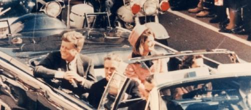 John F. Kennedy on the fateful day -- photo from Baylor Education via Wikimedia Commons