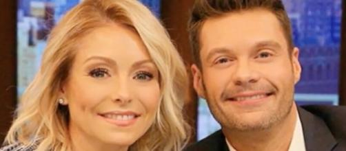 'Live with Kelly and Ryan' hosts Ripa and Seacreast choked up during a recent chat - Image via YouTube screenshot