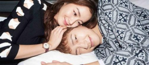 "Rain and Kim Tae Hee Image (via M Entertainment's YouTube video ""Couple Watches! Kim Tae Hee and Rain for Harper's BAZAAR Korea! So Sweet"")"