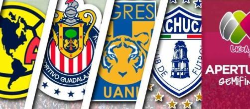 Semifinalistas Liga Feminl MX (vía Twitter @LIGAMXFemenil)