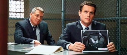 Tench (McCallany) and Ford (Groff) in the brilliant 'Mindhunter' series- YouTube Screengrab