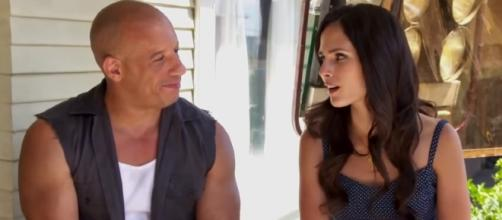 The Toretto siblings are reunited. Vin Diesel and Jordana Brewster reunited for the first time in the set. Image Credit: Movievclips/YouTube