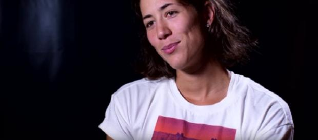 Garbine Muguruza during an interview. (Image Credit: WTA channel/YouTube screencap)