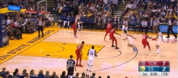 NBA: Warriors survive against Raptors, Heat lose at home to Spurs Image Credit: Ximo Pierto./Youtube