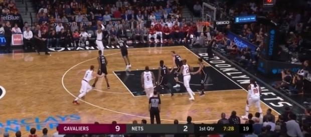 Cavaliers lose in Brooklyn, Oklahoma cruises past Indiana [Image Credit: Ximo Pierto/Youtube screencap]