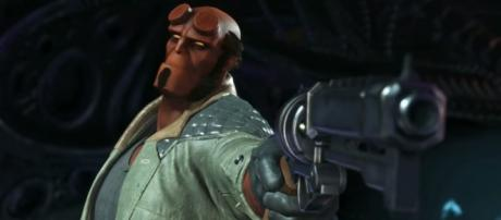 Injustice 2 - Introducing Hellboy! [Image Credit: Injustice/YouTube screencap]