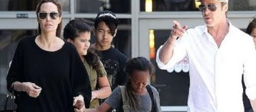 Angelina Jolie, Brad Pitt with kids - Image Credit: Daily News/YouTube