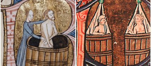 Baños en la Edad Media, el baño era un hábito muy poco común