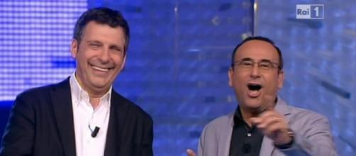 Carlo Conti e Fabrizio Frizzi all'Eredità