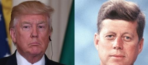 Donald Trump and JFK, via Twitter