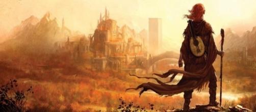 Ilustración del protagonista Kvothe