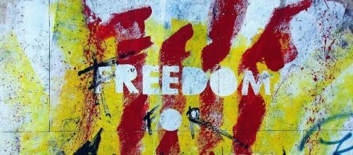 Graffiti on the wall in Catalan. Photo Joenomia -pixabay.com