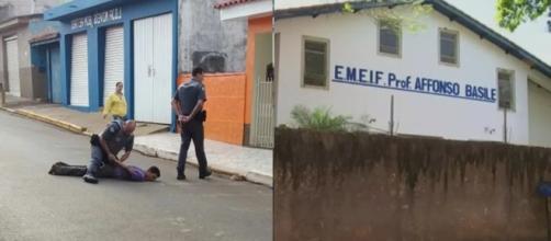 Homem invade escola e tenta sequestrar crianças