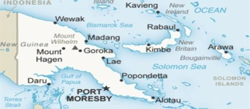 Papua New Guinea [Image by United States Central Intelligence Agency's World Factbook|Wikimedia Commons| Cropped and Resized | public domian]