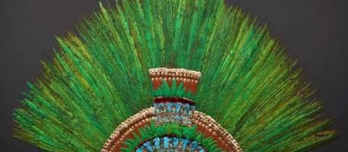 Penacho de Moctezuma (vía Twitter -Weltmuseum)