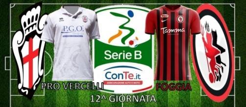 Pro Vercelli e Foggia si sfideranno nella 12^ giornata del campionato di Serie B ConTe.it 2017/18