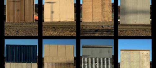 Prototipos del muro de Trump (Vía AFP)