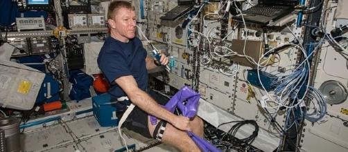 Tim Peake on the ISS (not the moon) {image courresy of NASA wikimedia commons]