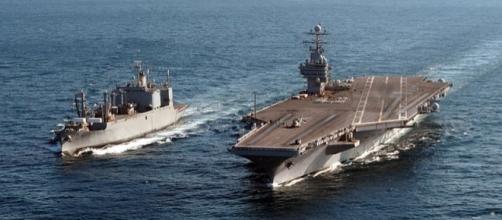 USS Theodore Roosevelt in Atlantic Ocean. (Image courtesy of Randall Damm – Wikimedia Commons)