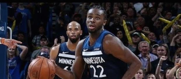 Andrew Wiggins and the Minnesota Timberwolves host the OKC Thunder on Friday night. [Image via NBA/YouTube]