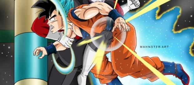 Jiren y Goku en una nueva pelea