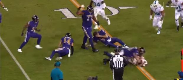 Kiko Alonso DIRTY Hit On Joe Flacco | Dolphins vs. Ravens | NFL Image credit Highlight Heave | YouTube