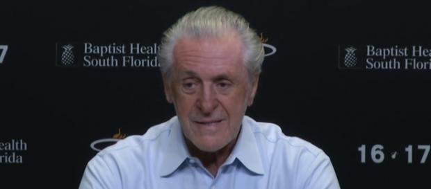 Miami Heat president Pat Riley is optimistic about the future of Justise Winslow and Bam Adebayo -- FOXSportsFlorida FOXSportsSun via YouTube
