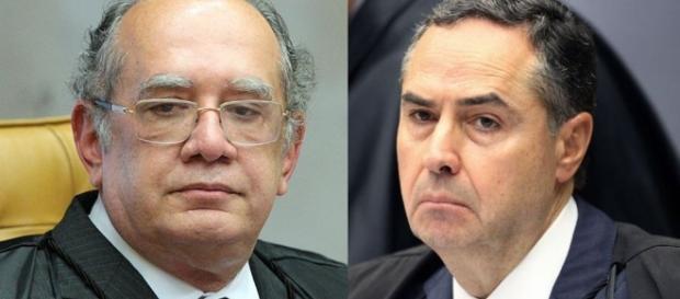 Os ministros Gilmar Mendes e Roberto Barroso (gazeta do povo)