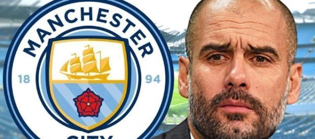 Aquí Pep Guardiola del Manchester City