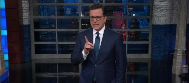 Stephen Colbert's nightly monologue. [Image via The Late Show with Stephen Colbert/YouTube screencap]
