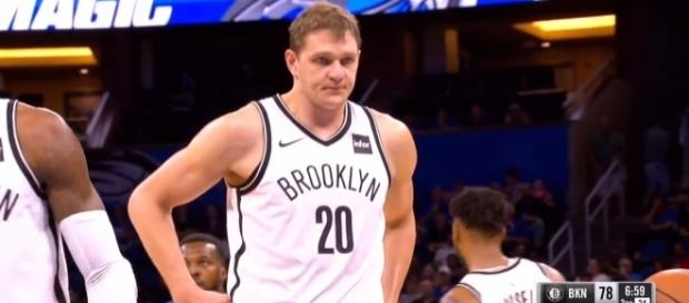 Timofey Mozgov of the Brooklyn Nets. [Image Credit: Sahalinets 77/YouTube]