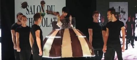 Chocolate runway show [Image Credit: Farrukh Younus/YouTube]
