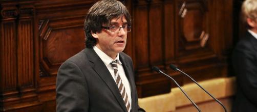 El presidente de la Cataluña Carles Puigdemont