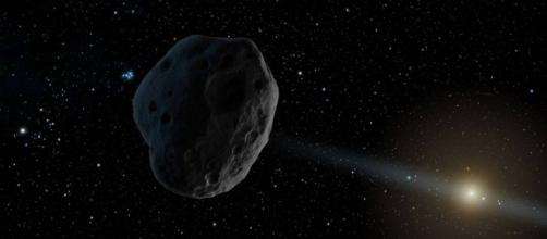 Ilustração artística de possível asteroide ou cometa que passou pela Terra. (Crédito: NASA/JPL-Caltech)