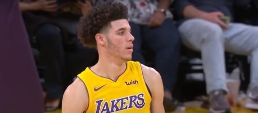 Lonzo Ball was benched early in the Lakers' loss to the Raptors; (Image Credit: Real GD's Latest Highlights via YouTube screencap)