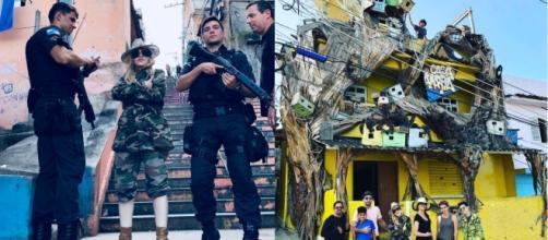 Madonna e la foto dello scandalo, a Rio de Janeiro accanto a dei poliziotti