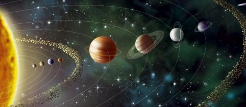 Representação artística do Sistema Solar.