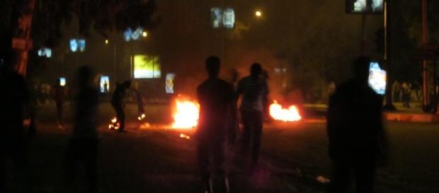 Attack on police Giza. Phot credit- Ibrahim -Flickr.com