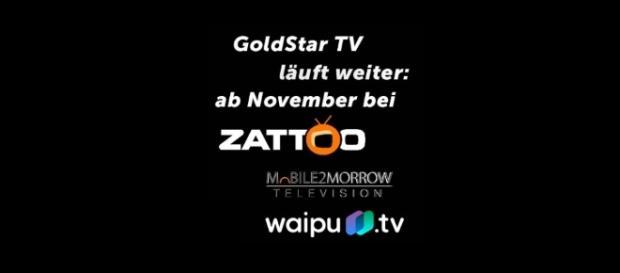 GoldStar TV verschwindet am 31.10.2017, 24 Uhr bei Sky und ist über diese Plattformen weiter verfügbar / Foto: MainstrainMedia AG, Montage